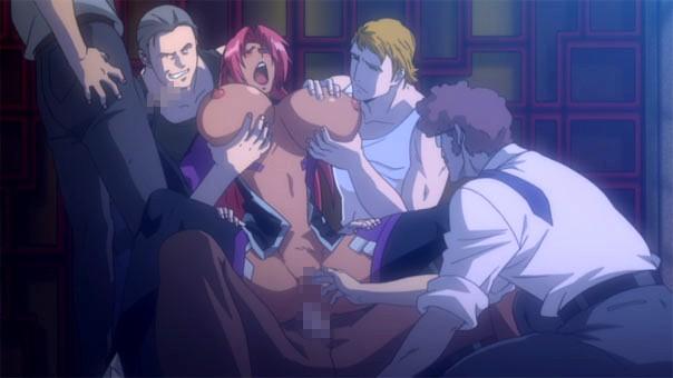 【エロアニメ】魔族の肉便器として1,000円やり放題でレイプされ続ける巨乳おっぱい対魔忍