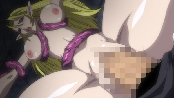 【エロアニメ】エルフ姫ニィーナが人間や触手に強淫的に犯され孕まされてしまう