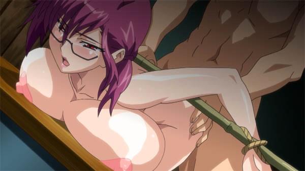 【エロアニメ】巫女として次々に男どもの性のはけ口としてハメられ目茶苦茶にされる美女教師