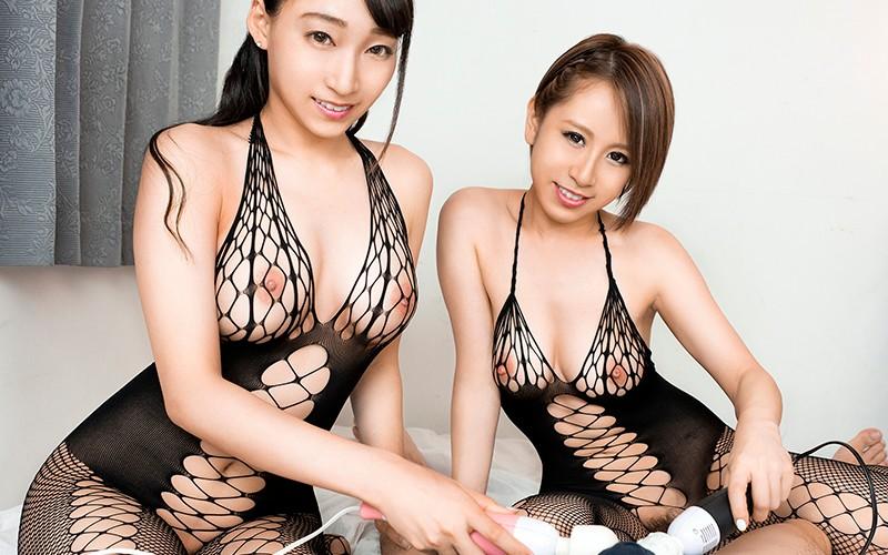 蓮実クレア・北川エリカのチ○ポ電マ責め