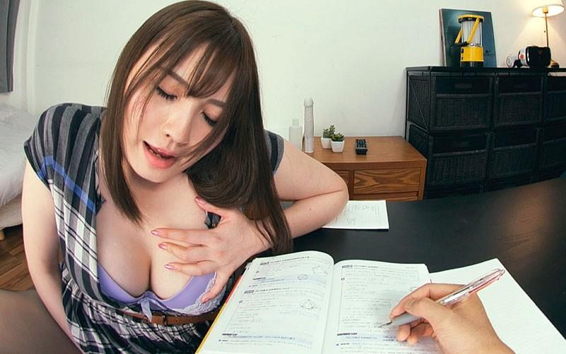 【VR】超ド迫力映像!Gカップ痴女家庭教師の悩殺性教育がとてつもなく卑猥。藤白桃羽