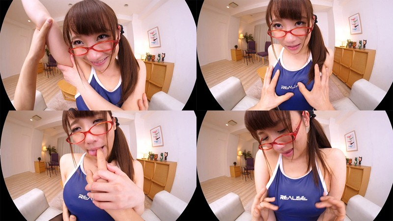 【VR】倉多まお 眼鏡×競泳水着×くびれボイン VR 優しい笑顔のGカップ美女と中出しSEX!のサンプル画像