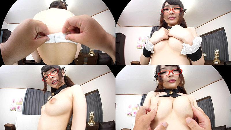 【VR】眼鏡かわいい美肌メイドを壁ドンからの立ちバック!ボクのことを好き過ぎるご奉仕メイドとのなんともうらやましい日常。跡美しゅり4