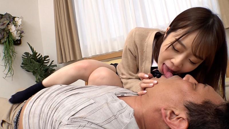 おじさんが大好物 唾液べっちょり接吻で責めまくる痴女J○ 渡辺まお8