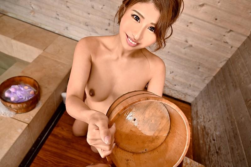 【VR】【露天風呂】でイチャLOVEセックス!【褐色ギャル】の彼女と温泉に...のサンプル画像