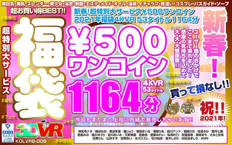 【VR】新春!超特別大サービス¥500ワンコイン福袋4KVR 53タイトル1164分 パッケージ写真