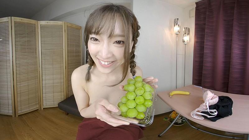 【VR】女性がフルーツを食べるだけのVR3