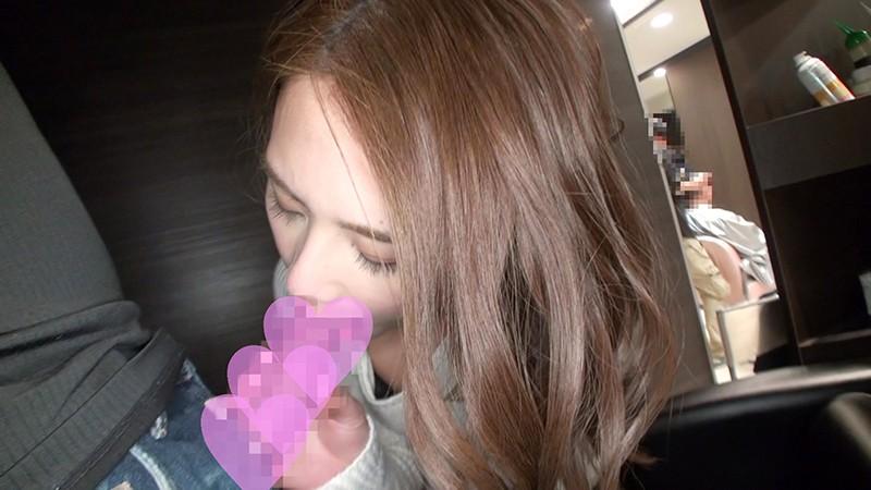 綺麗な美容師さんがボクの顔に胸を押し当て大胆挑発。営業中の店内でセックスさせてもらいました♪10