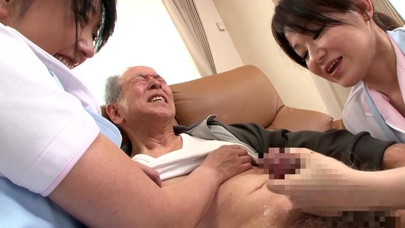 熟女ヘルパーのおじいちゃん遊び 手コキとフェラでまだまだ発射させます! 画像8