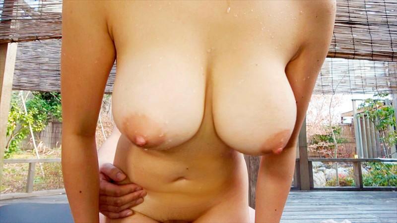 巨乳人妻温泉デート 恥じらう若妻Jカップ美穂26歳 画像5