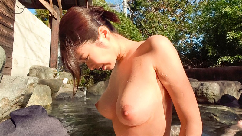 BANK-033 Creampie Open Air Hot Spring Super Hot And Slender H-Cup Bitch With Huge Tits