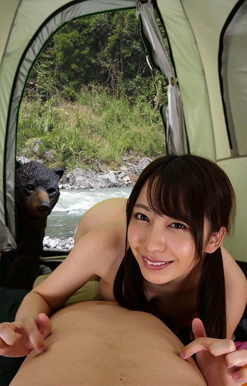 【VR】ソロキャンプ女子が熊に追われて俺のテントに転がり込んできた!!パニックVR!!孤独な男の夜にミラクル展開炸裂! 弥生みづき 5