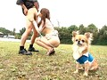 犬の散歩中の人妻にイタズラ