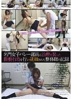 名門女子バレー部員に治療を装った猥褻行為を行い逮捕された整体師の記録 ダウンロード