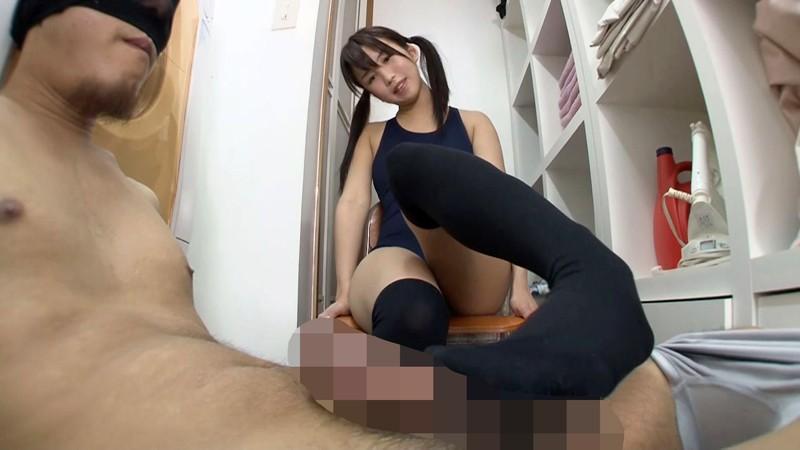 スク水女子校生のニーハイ脚コキ 画像9