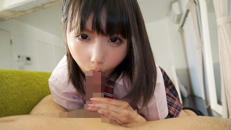 【エロ動画】制服姿の女子校生お姉さんの、主観フェラごっくんプレイがエロい。