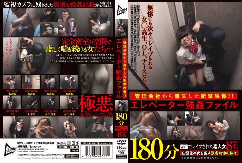 管理会社から流出した衝撃映像!!エレベーター強姦ファイル 180分 密室でレイプされた素人女8名収録