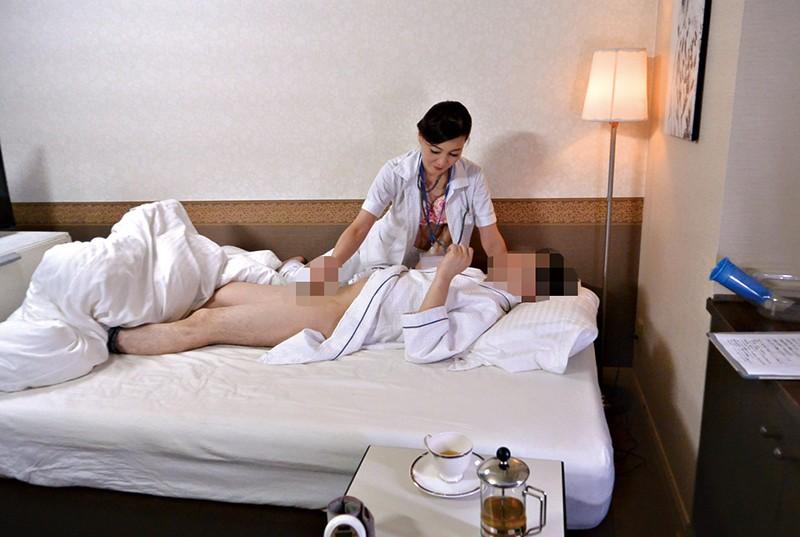 「ここはそういうトコロじゃありませんので…」 人間ドック特別室で看護師にイタズラしたら… の画像12