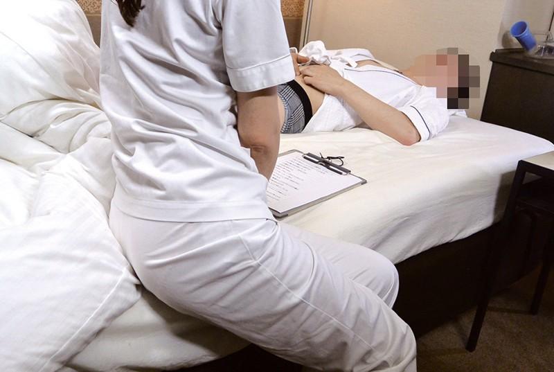 「ここはそういうトコロじゃありませんので…」 人間ドック特別室で看護師にイタズラしたら… の画像14