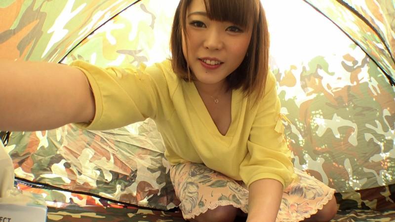 野外テント 自画撮り大興奮早イキオナニーのサンプル画像