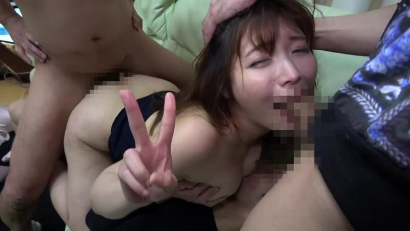 人妻尾行押し込み3穴アナル集団レ●プ