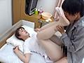 入院中の禁欲生活に耐え切れない息子が看護師のデカ尻義母に媚薬を飲ませると白パンスト擦りつけながら淫らに股間を滴らせ、カニバサミで中出しを求めた!