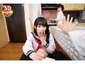 【VR】ニーハイ制服姿の妹が見せつける絶対領域にフル勃起!...sample6