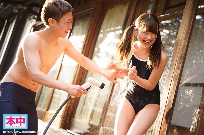 夏休みの雨上がり濡れ透けつるぺた従妹に中出ししまくった思い出 松本いちか 1枚目