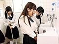 トイレ掃除で水が掛かって濡れまくり!制服ビショ濡れでブラ...sample1