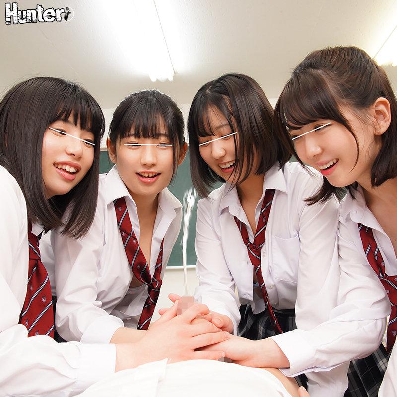 ヤリマン女子たちがこっそり作るハメ撮り卒アル制作に参加させられたボク。校内のあらゆる場所でハメ撮り記念撮影。そのチ○ポ役に大抜擢されたボク。