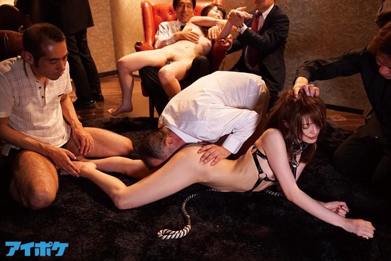 【相沢みなみ】超絶美人な社長令嬢が、拉致られて拘束状態で乱交性奴隷調教レイプされちゃう!
