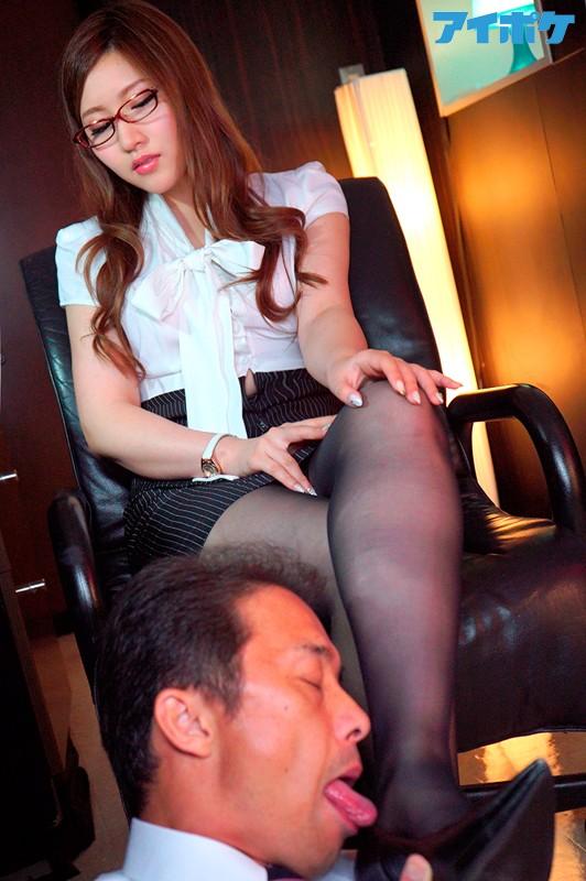 パンスト極痴女秘書の華麗なるマラ遊び 舞島あかり 4枚目