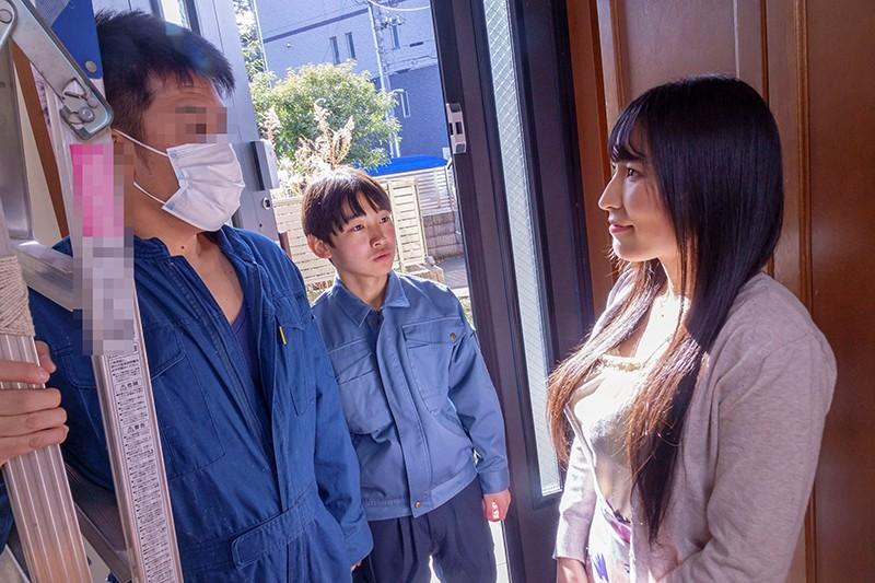 内装業の見習い君に揉ませてあげた優しい優しい昼下がりの巨乳主婦 岩沢香代4