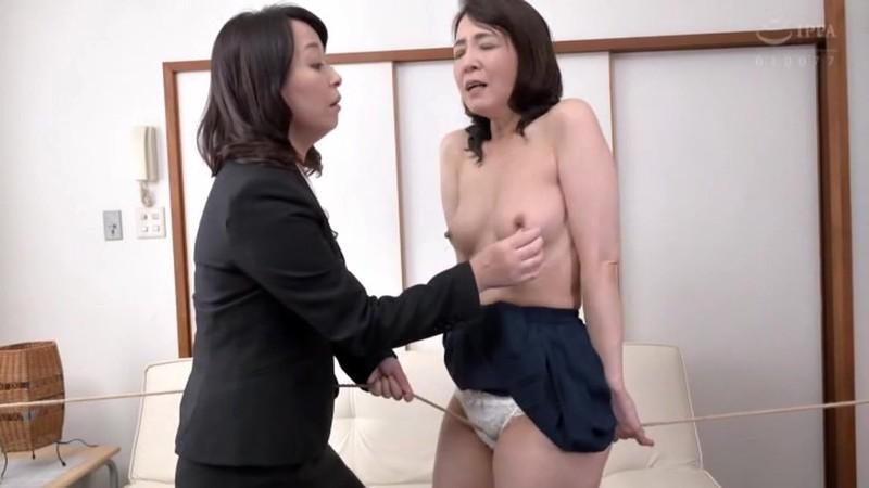 熟女レズ スナックのママとビルのオーナー あなた、お家賃が払えないの? 矢田紀子 水上由紀恵 画像4