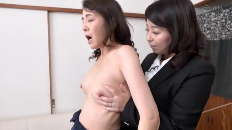 熟女レズ スナックのママとビルのオーナー あなた、お家賃が払えないの? 矢田紀子 水上由紀恵 画像6