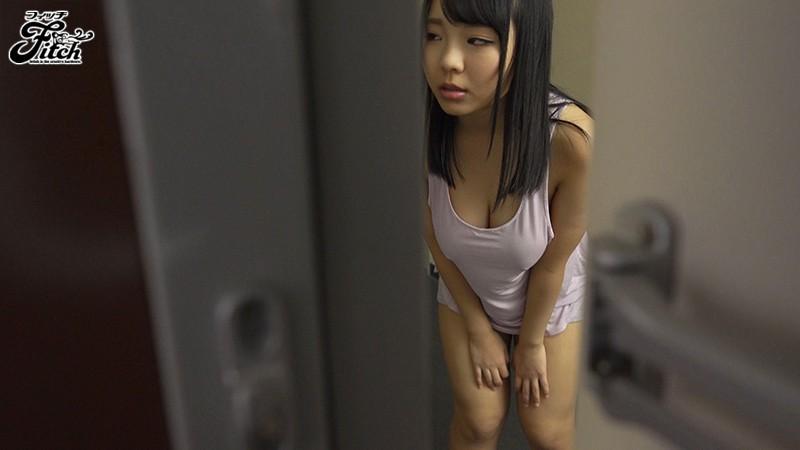 むっちむちのお肉がハミ出ちゃう恥ずかしい薄着のまま部屋を追いだされた隣の爆乳娘 稲場るか 1枚目