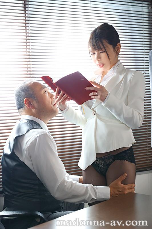 人妻秘書、汗と接吻に満ちた社長室中出し性交 究極Kcup Madonnaセックスシンボル《中出し》解禁!! 叶愛 キャプチャー画像 1枚目