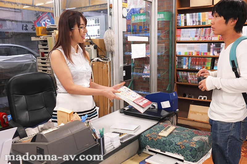 JUY-819 Studio Madonna - A Plain And Reserved Looking Married Woman From A Bookshop Carefully Teases Me Yui Hatano
