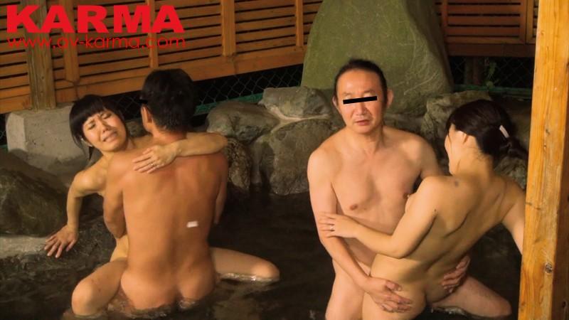 北関東混浴露天風呂盗撮 噂の公然わいせつ露天風呂 夫婦交換中出しセックス キャプチャー画像 4枚目