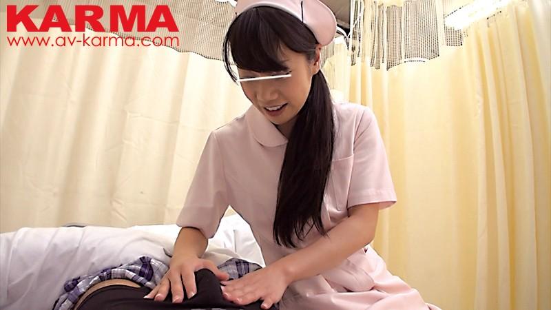 【看護婦・ナース】男性入院患者の朝立ち勃起チ○ポを見てしまった看護師は…? キャプチャー画像 4枚目