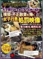 大手銀行監査部長Nの私物から流出 横領・不正融資を働く女子行員処罰映像 ダウンロード