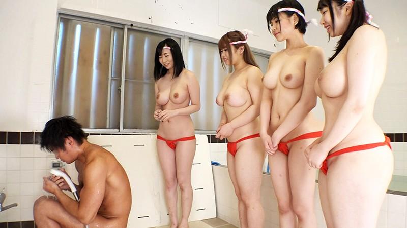 銭湯看板娘は巨乳4姉妹 倒産寸前の風呂屋を勃て直す為に勃ち上がる!「秘蜜の乳浴サービス始めました」