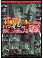 [個人投稿][極秘買取]本物女子○生を公園のトイレで強姦する一部始終を撮影した映像を入手発売! ダウンロード