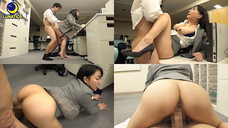 これは残業中のオフィスでデカ尻女上司の肉感タイトスカート尻に我慢できず毎日尻射した記録映像です。 羽生アリサ6