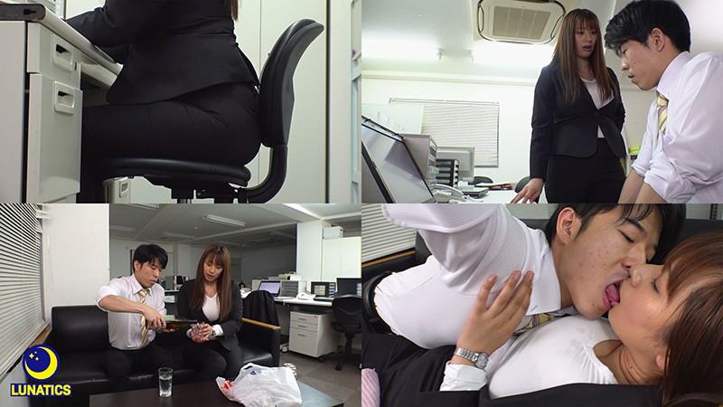 残業中、2人きりの社内でパツパツスーツの行き遅れ巨乳おばさんを孕むまで何度も中出しした。 春菜はな 画像1