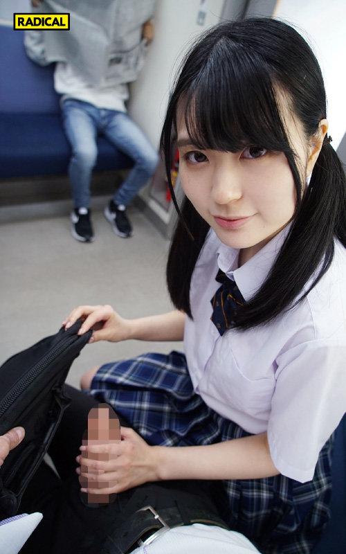【VR】向かいの席から見せつけてくる女子○生の電車パンチラで挑発されて…4