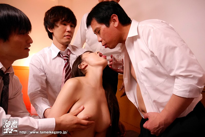 MEYD-431 Studio Tameike Goro - Year-End Party NTR - My Wife Can't Drink A Drop Of Liquor But She Couldn't Refuse When Her Boss Offered Her A Drink And She Got Dead Drunk And Fucked To Oblivion In This Video - Lily Hosho big image 3