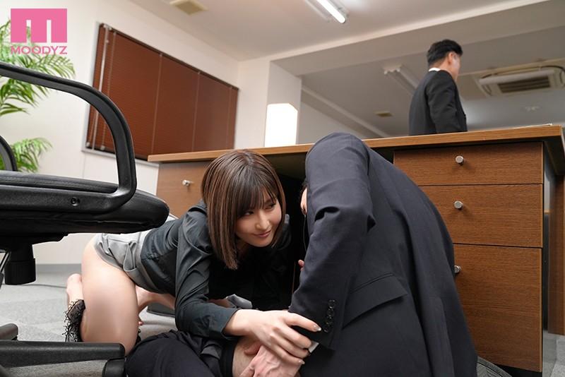 二人きりの密室で汗ばむ巨乳女上司に密着囁き誘惑で痴女られまくった僕。 藤森里穂 キャプチャー画像 8枚目