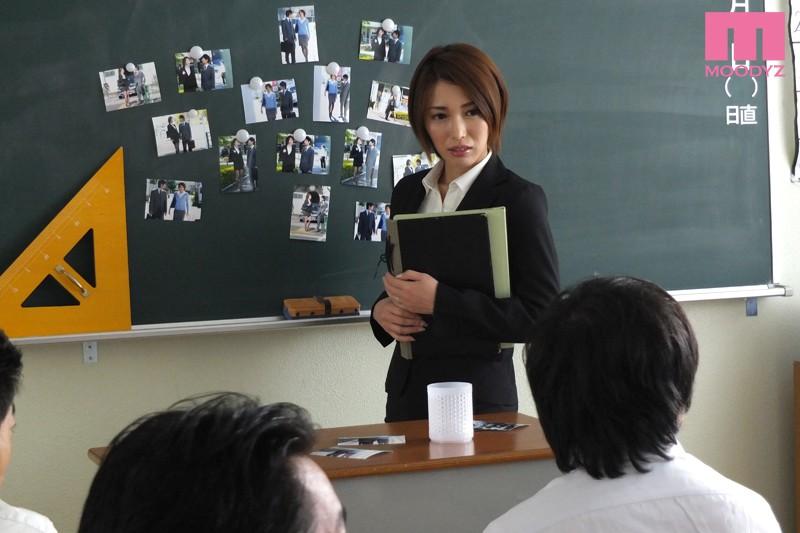 生徒に授業を乗っ取られた巨乳女教師 君島みお キャプチャー画像 1枚目
