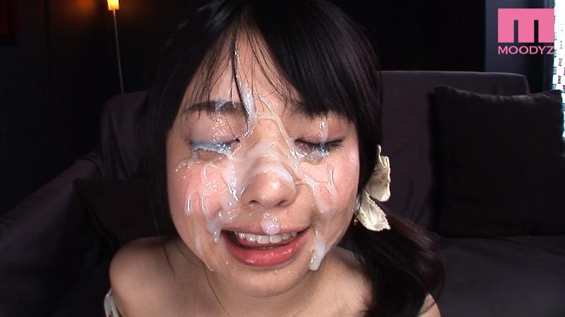 【美少女】 すっごい量の一発顔射 安土結 キャプチャー画像 9枚目